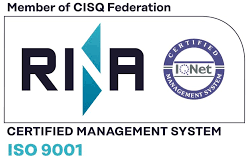 Rina trademark - ISO 9001 Certified Quality System